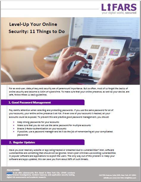 Online Security: 11 Things to do