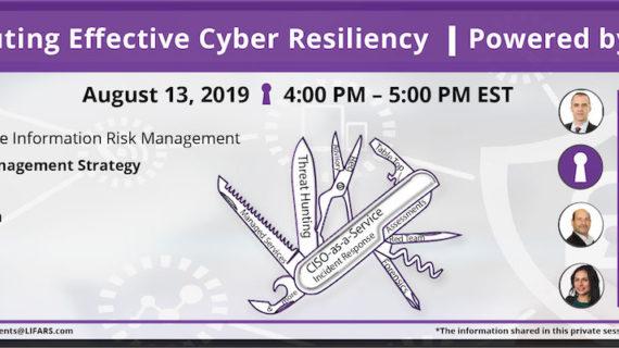 Webinar - DO IT - Executing Effective Cyber Resiliency