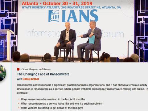 October 30-31 2019 Atlanta Information Security Forum
