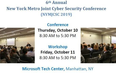 NY Metro Joint Cyber Security Conference (NYMJCSC 2019)