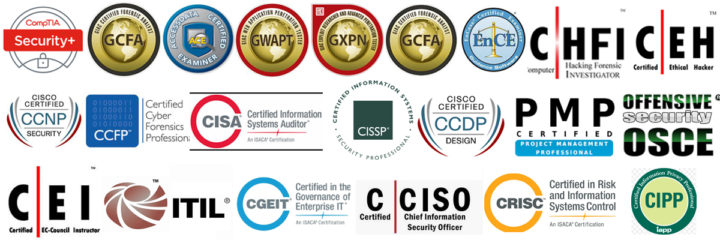 LIFARS Network and Cyber Security Certifications